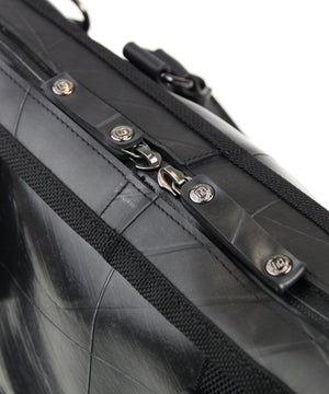 SEAL Briefcase for Men PS064 BLACK Zip Top Closure