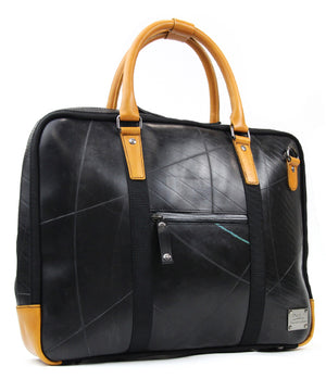 SEAL Briefcase for Men PS064 BROWN Side View