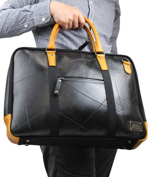 SEAL Briefcase for Men PS064 BROWN Hand Carrying View