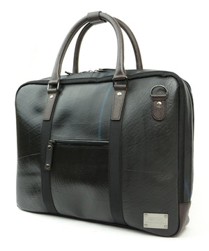 SEAL Briefcase for Men PS064 DARK BROWN Side View