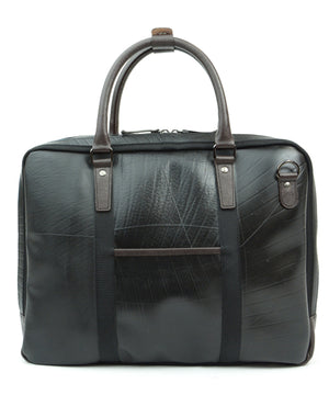 SEAL Briefcase for Men PS064 DARK BROWN Back View