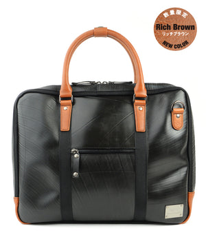 SEAL Briefcase for Men PS064 RICH BROWN Front View