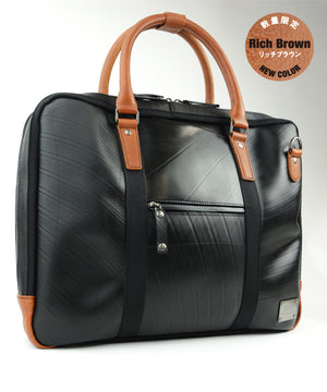 SEAL Briefcase for Men PS064 RICH BROWN Side View