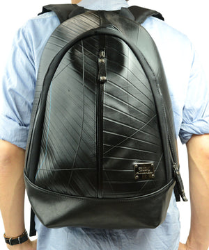 SEAL Best Men's Backpack for Work PS094 BLACK Over the Back View