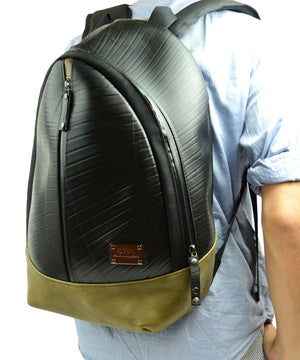 SEAL Best Men's Backpack for Work PS094 MOSS GREEN Over the Back View