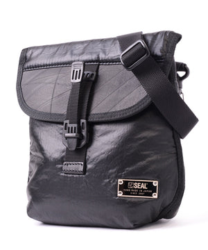 SEAL x FUJIKURA PARACHUTE 2 ways mini belt bag BLACK side view