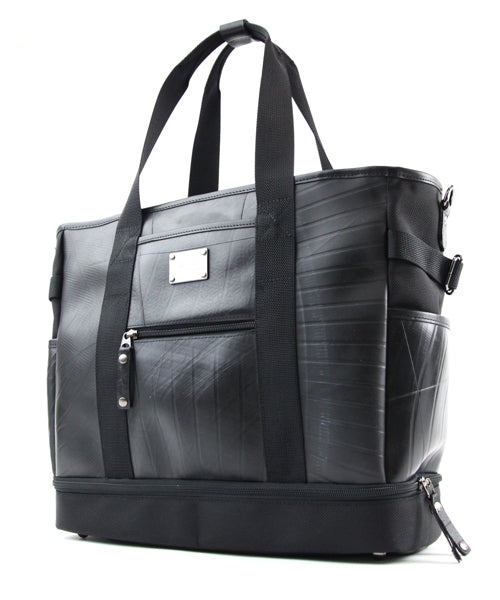 SEAL Weekender Tote With Shoe Compartment PS060 BLACK Front View