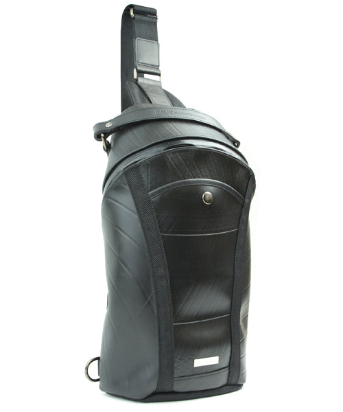 SEAL Men's Sling Backpack PS084 BLACK Side View