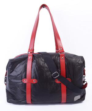 SEAL x Fujikura Parachute Luggage Bag RED Front View