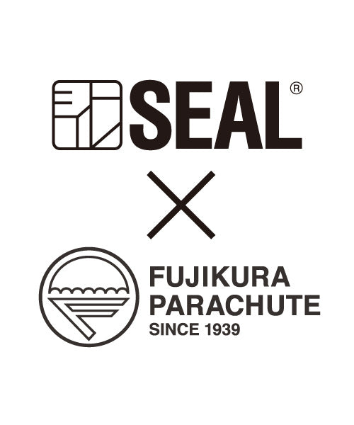 SEAL x Fujikura Parachute Luggage Bag BLACK Front View