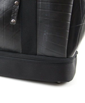 SEAL Weekender Tote With Shoe Compartment PS060 BLACK Nylon Bottom View