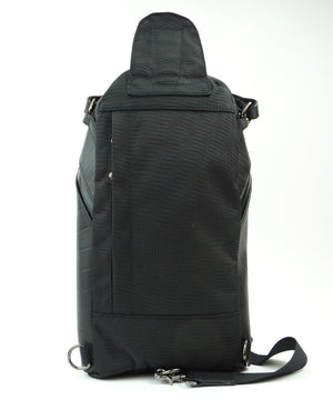 SEAL Men's Sling Backpack PS084 BLACK Back View