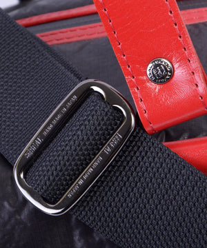 SEAL x Fujikura Parachute Luggage Bag RED Shoulder Strap Buckle