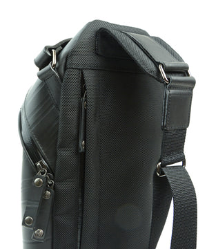 SEAL Men's Sling Backpack PS084 BLACK Shoulder Strap Close Up