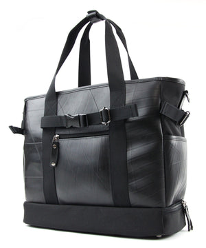 SEAL Weekender Tote With Shoe Compartment PS060 BLACK Back View