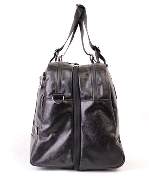 SEAL x Morino Canvas Carry On Bag BLACK Side Zipper View