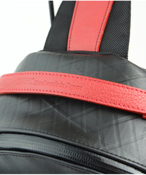 SEAL Men's Sling Backpack PS084 RED Handle Close Up