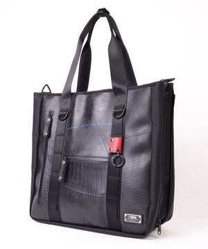 SEAL Recycled Tire Tube Men's Tote Bag PS151 BLACK Side View