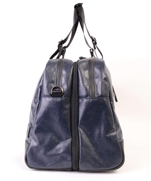 SEAL x Morino Canvas Carry On Bag NAVY Side Zipper View