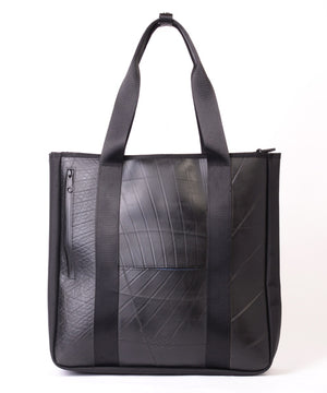 SEAL Recycled Tire Tube Men's Tote Bag PS151 BLACK Back View