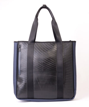 SEAL Recycled Tire Tube Men's Tote Bag PS151 NAVY BACK View