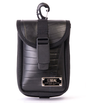 SEAL belt bag BLACK front view