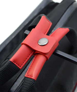 SEAL Carry on Bag for Business Travel RED Handle View