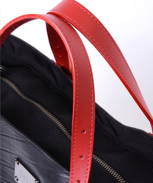 SEAL Work Tote for Men PS036 RED Genuine Leather Handle