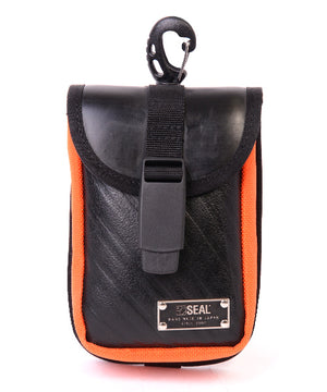 SEAL belt bag ORANGE front view