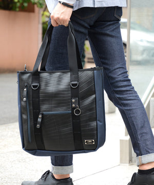SEAL x Morino Canvas Carry On Bag NAVY Long Handle