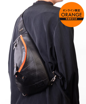 SEAL Morino Canvas Bum Bag MS0250 ORANGE Limited Edition Over the Shoulder Back View