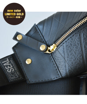 SEAL bum bag PS037s GOLD Zipper View