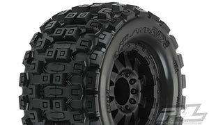 "Badlands MX38 3.8"" (Traxxas Style Bead) All Terrain Tires VMounted, for 17mm MT Front or Rear"