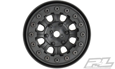 "Denali 1.9"" Black/Black Bead-Loc 8 Spoke Front or Rear Wheels for Rock Crawlers"