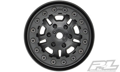 "FaultLine 1.9"" Black/Black Bead-Loc 10 Spoke Front or Rear Wheels for Rock Crawlers"