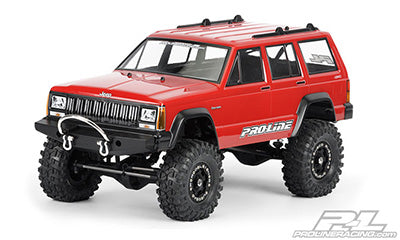 "1992 Jeep Cherokee Clear Body for 11.8"" (300mm) Wheelbase Scale Crawlers"