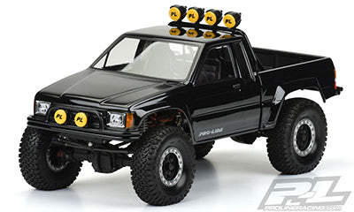 "1985 Toyota HiLux SR5 Clear Body (Cab + Bed) for SCX10 Trail Honcho 12.3"" (313mm) Wheelbase"