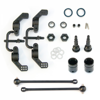 TKR1951X – M6 Driveshafts and Hub Carriers (Slash 2WD, Nitro Rustler/Stampede, rear)