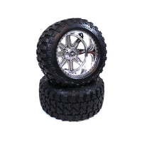 CEN RACING - AMERICAN FORCE LEGEND SS8 PLASTIC WHEELS, W/ FURY MOUNTAIN M/T TIRES, PRE-GLUED (2PCS)