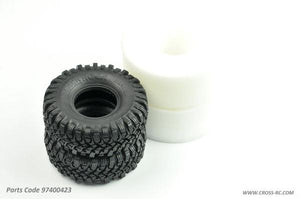 Cross RC - Blackrock Tires, (pr.) Super Soft w/ Inserts, 115/45/1.9