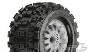 "Badlands MX28 2.8"" (Traxxas Style Bead) All Terrain Tires Mounted"