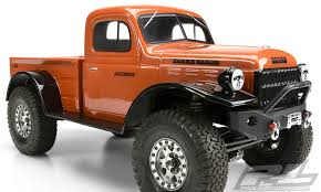 "1946 Dodge Power Wagon Clear Body for 12.3"" (313mm) Wheelbase Scale Crawlers"