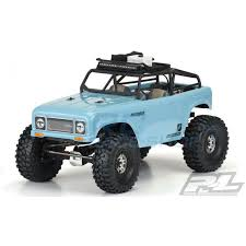 "Ambush Clear Body with Ridge-Line Trail Cage for 12.3"" (313mm) Wheelbase Scale Crawlers"