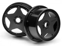 HPI RACING - SUPER STAR WHEEL, BLACK, 120X60MM, (2PCS), BAJA 5B