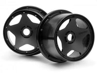 HPI RACING - SUPER STAR WHEEL, BLACK, 120X75MM, (2PCS), BAJA 5B