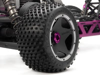 HPI RACING - DIRT BUSTER BLOCK TIRE & WHEEL, REAR S COMPOUND, BAJA 5B