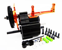 HOT RACING - 2 SPEED GEAR BOX W/ STEEL GEAR, LONG OUTPUT SHAFT, FOR AXIAL WRAITH AND AX10
