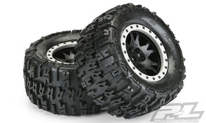 "Trencher 4.3"" Pro-Loc All Terrain Tires, Mounted on Impulse Pro-Loc Black Wheels w/ Gray Rings"