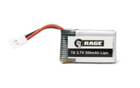 Rage RC - 1S 3.7V 300mAh Lipo Battery; Orbit FPV