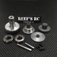 Reef's RC - 444 Servo Gear Set, w/ Dual Bearings